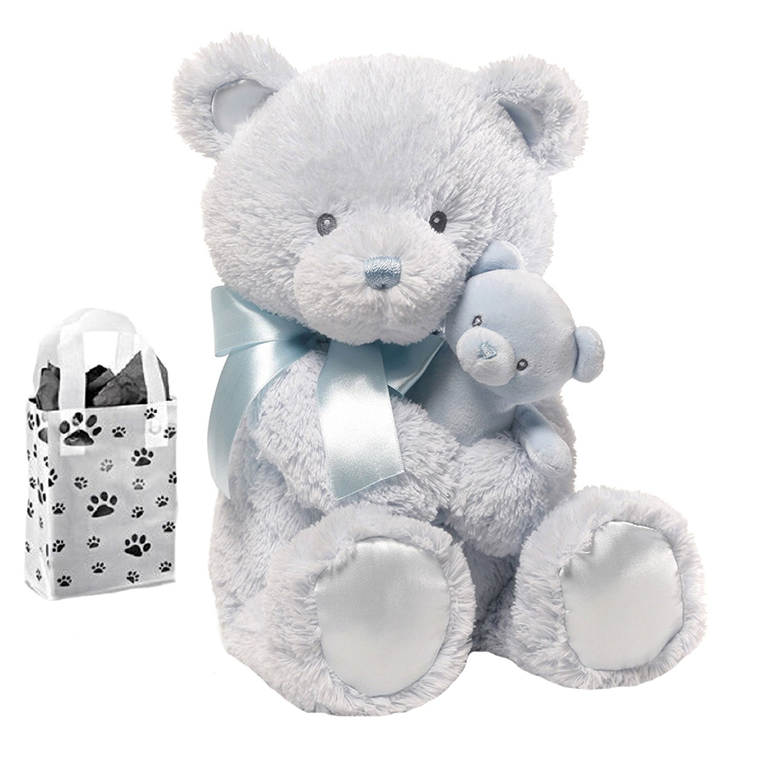 fb61b62a4653 Baby Gund Momma & Baby Bear Rattle Blue Combo 15 Inches   Soft Toys  Singapore